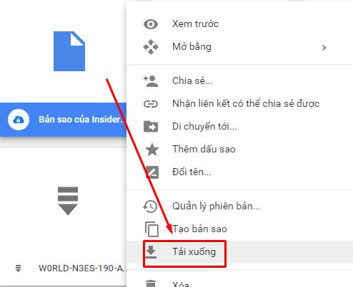 Tải file trên Google Drive
