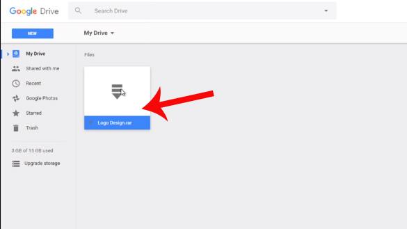 File được đưa vào Google Drive