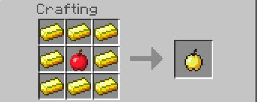 Tạo những quả táo vàng có giá trị trong Minecraft