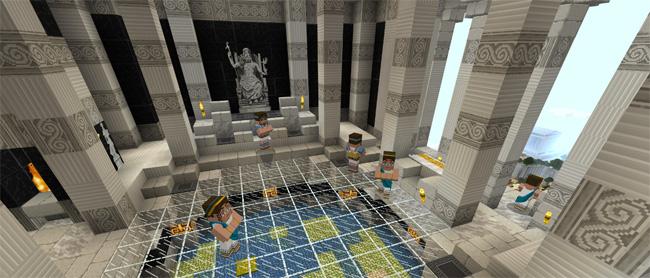 Hình ảnh thần thoại Hy Lạp trong Minecraft