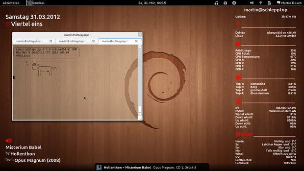 Giao diện Debian
