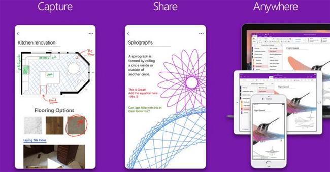 OneNote trên iOS
