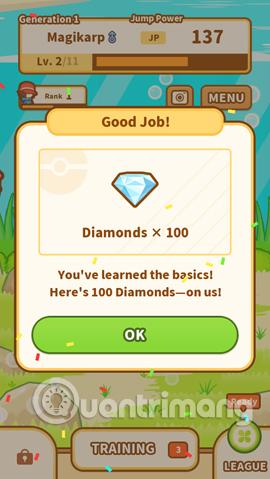 Nhận kim cương