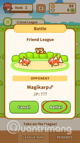Trận chiến với Magikarp khác