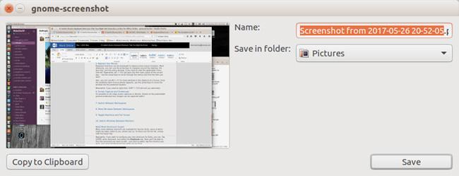GNOME-screenshot interface