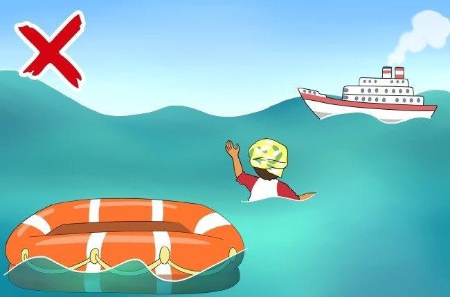 Đừng vội lao xuống nước nếu thấy thuyền xuất hiện ở đằng xa