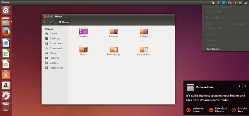 Giao diện Ubuntu demo online