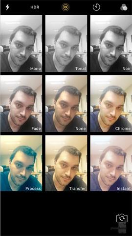 Giao diện chế độ chụp ảnh iOS 10