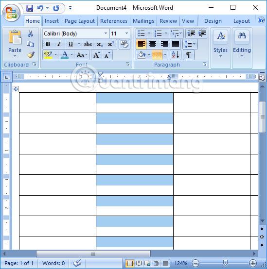 Điều chỉnh chiều dài dòng trong bảng