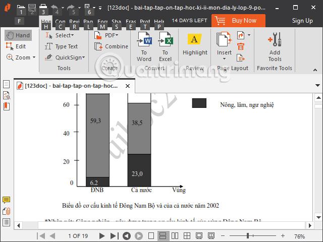 Dấu watermark trên giao diện PDF