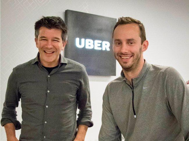 Kalanick và kỹ sư Uber Anthony Levandowski