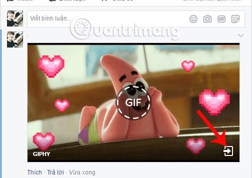 Đăng ảnh GIF bình luận Facebook