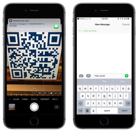 Gửi tin nhắn qua mã QR