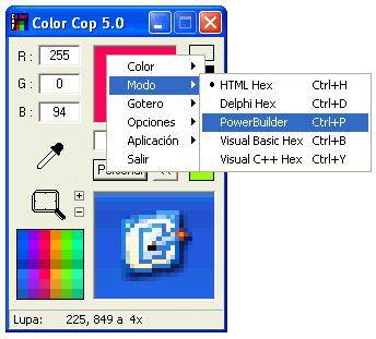 Color Cop lấy mã màu