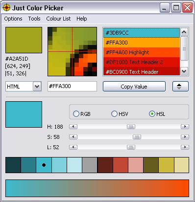 Just Color Picker lấy mã màu