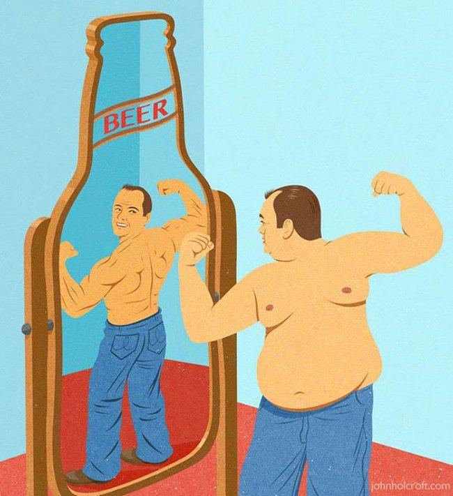 Khi đàn ông ngắm mình trong gương.