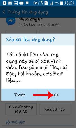 Dữ liệu ứng dụng trên Messenger