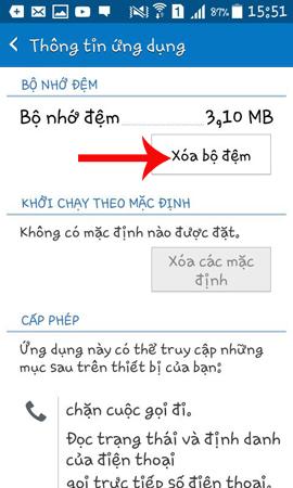 Xóa bộ nhớ đệm ứng dụng Messenger