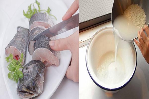 Khử mùi tanh của cá bằng nước vo gạo