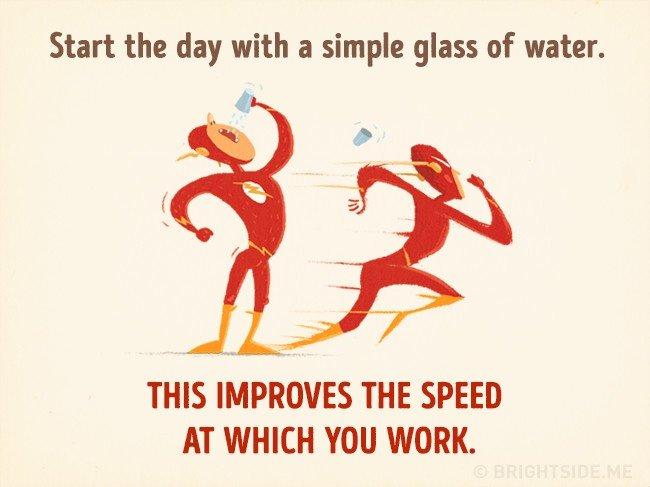 Bắt đầu ngày mới bằng một ly nước giúp cải thiện tốc độ làm việc