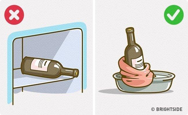 Làm lạnh rượu mà không cần tủ lạnh