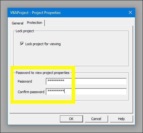 Nhập mật khẩu vào tích chọn ôLock project for viewing