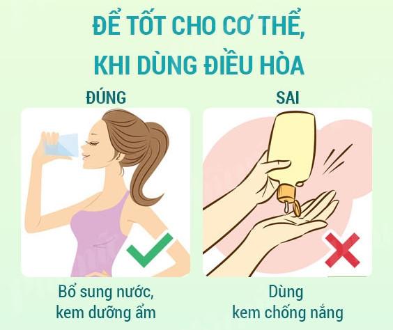 Bảo vệ cơ thể khi dùng điều hòa
