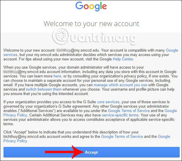 Điều khoản đăng ký của Google