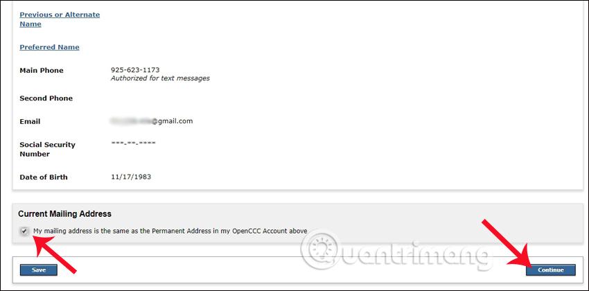 Account/Mailing Infomati