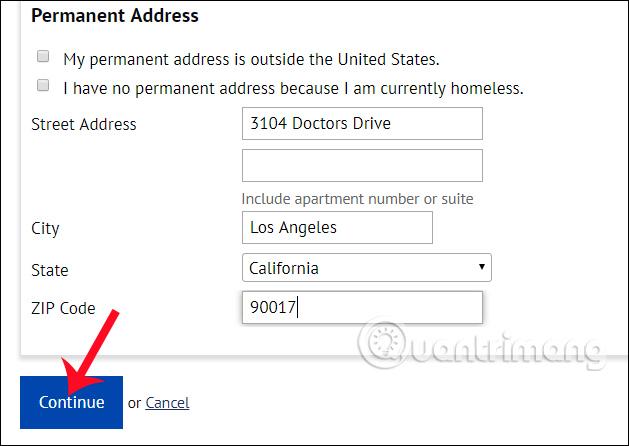 Nhập địa chỉ