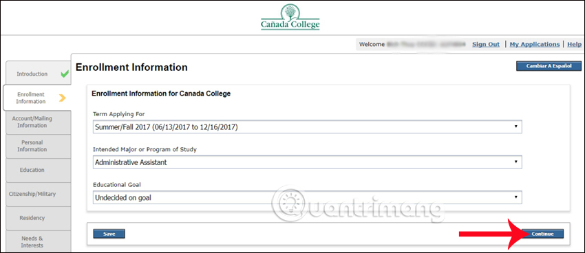 Enrollment Infomation