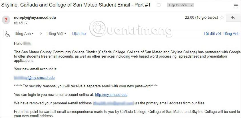 Truy cập theo tài khoản và mật khẩu cung cấp