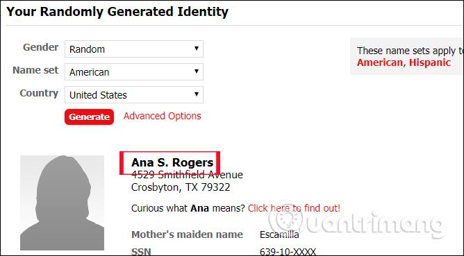 Thông tin người dùng đăng ký