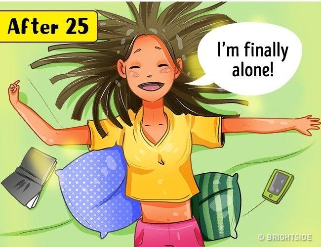 Ở một mình - sau tuổi 25