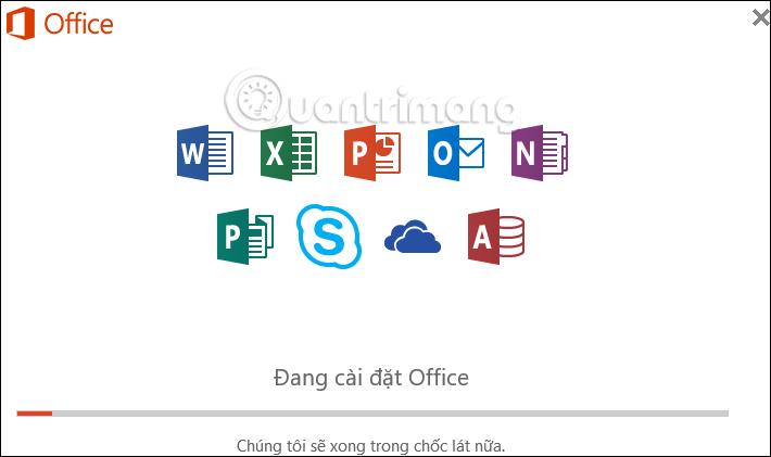 Thông báo cài đặt Office 365