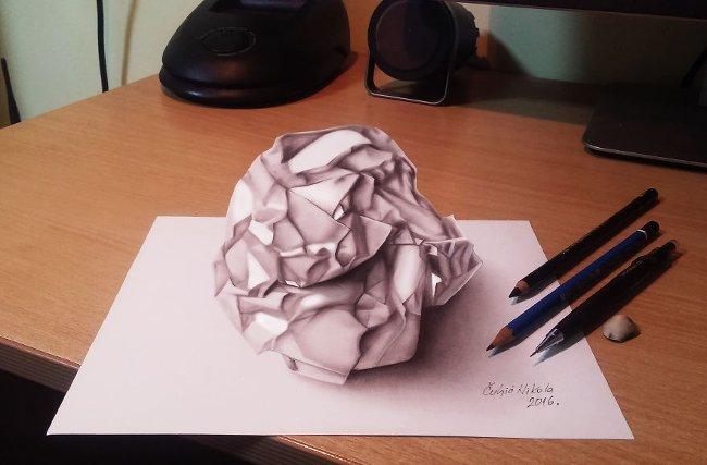 Bản vẽ 3D giấy
