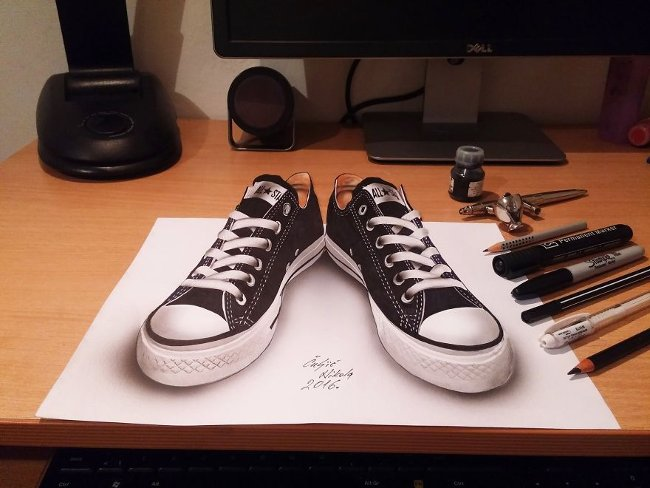 Bản vẽ 3D giày converse