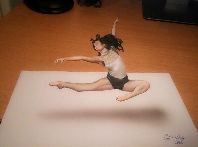 Bản vẽ 3D diễn viên múa