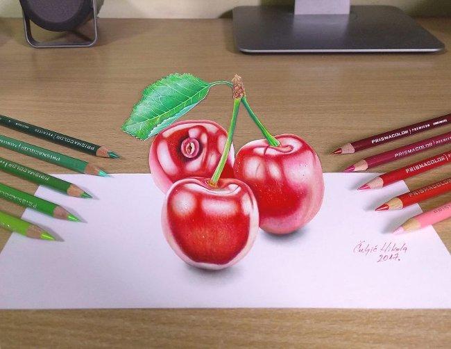 Bản vẽ 3D cherry