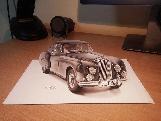 Bản vẽ 3D xe ô tô