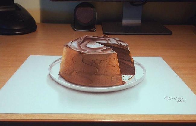 Bản vẽ 3D bánh ngọt
