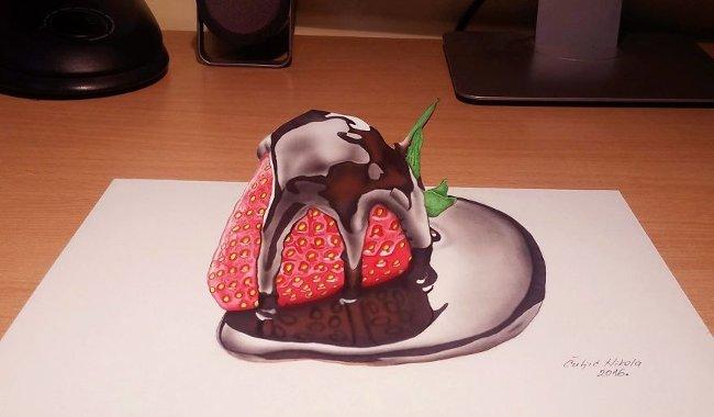 Bản vẽ 3D dâu tây