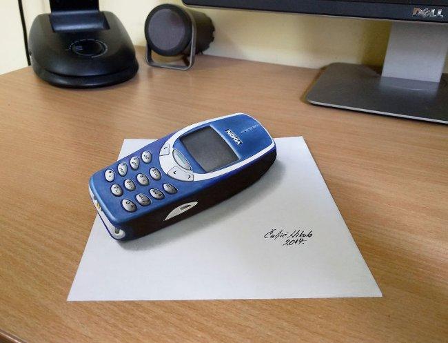 Bản vẽ 3D điện thoại Nokia