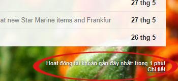 Xem hoạt động tài khoản Gmail