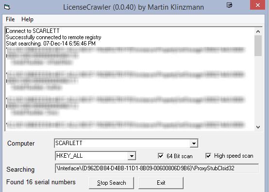 Ứng dụng LicenseCrawler