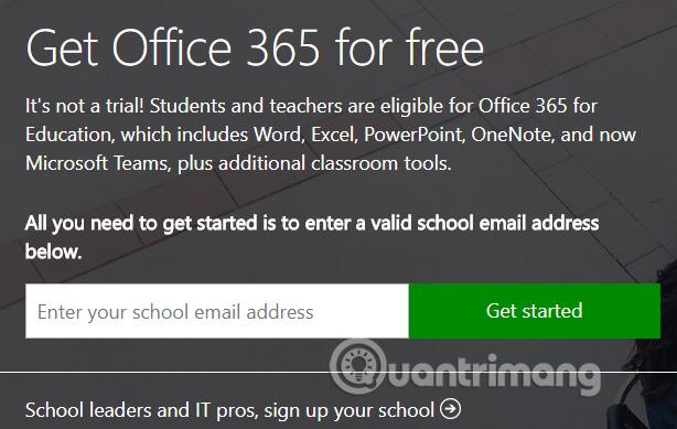 Bộ Office 365 cho giáo dục