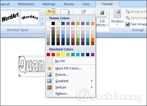 Thêm màu cho chữ