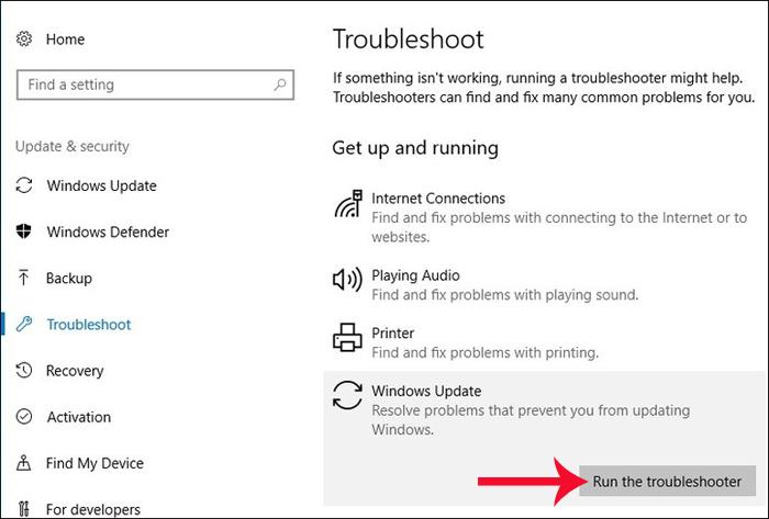 Công cụ dò lỗi Troubleshoot