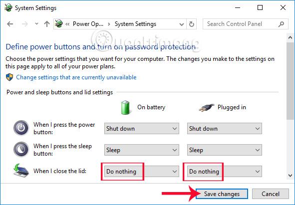 Nhấn chọn System Settings