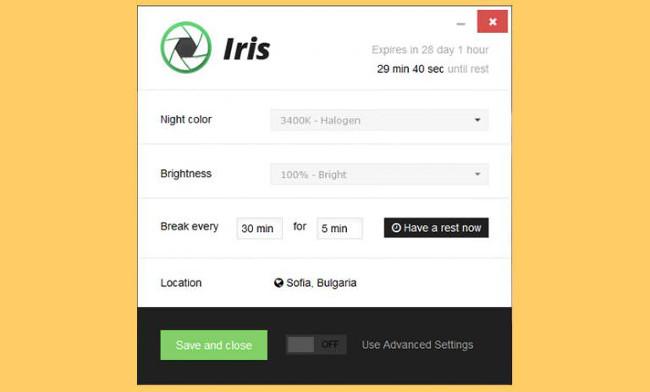 Ứng dụng Iris